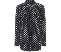 Bluse aus Seide mit Polka-Dots
