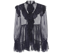 Bluse Frolly Ruffle mit Seide