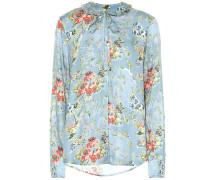 Bedruckte Bluse Aryanna aus Satin