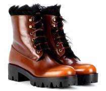 Ankle Boots mit Pelz