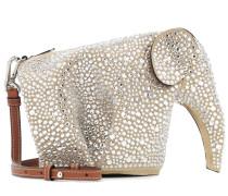 Verzierte Schultertasche Elephant