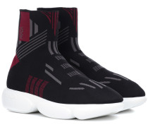High-Top-Sneakers aus Stretch-Material
