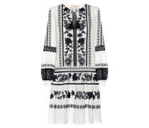 Besticktes Kleid Boho aus Baumwolle