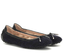 Ballerinas Gommino aus Tweed