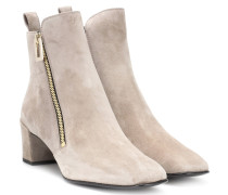 Ankle Boots Polly Zip aus Veloursleder