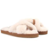 Slippers Abela aus Fell