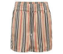 Gestreifte Shorts aus Seide