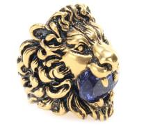 Vergoldeter Ring mit Kristall