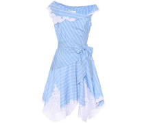 Schulterfreies Kleid aus Baumwolle und Seide