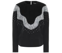 Verzierter Pullover Valia aus Wolle