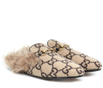 Slippers Princetown mit Shearling