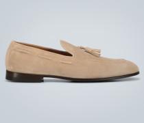 Tassel-Loafers aus Veloursleder