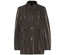 Bedruckte Jacke aus Baumwoll-Canvas