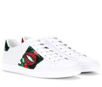 Sneakers Ace aus Leder mit Stickerei