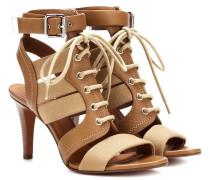 Sandalen aus Leder und Canvas