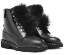 Ankle Boots Snow Flat 36 aus Leder