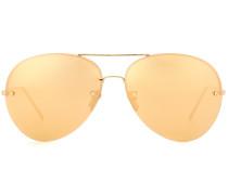 Vergoldete Aviator-Sonnenbrille