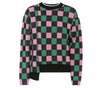 Karierter Pullover mit Baumwolle