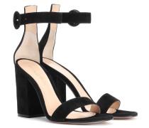 Sandalen Versilia 100 aus Veloursleder