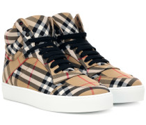 High-Top-Sneakers aus Baumwolle