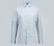 Hemd aus Baumwolle und Leinen