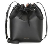 Mini Bucket-Bag aus Leder