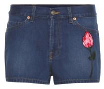 Bestickte Denim-Shorts