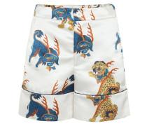Bedruckte Shorts aus Satin