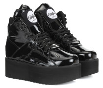 X Buffalo London Plateau-Sneakers aus Leder