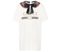 Verziertes Baumwoll-T-Shirt