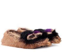 Loafers aus Pelz