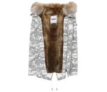 Jacke aus Baumwolle mit Pelzbesatz