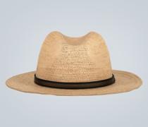Panamahut aus Stroh mit Band