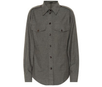 Flanellhemd aus Baumwolle