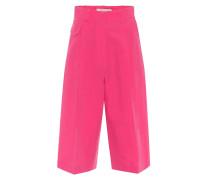 Shorts aus Baumwolle und Seide