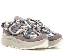 Sneakers Jet Turbo aus Veloursleder und Leder