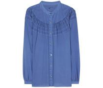 Bluse aus Baumwoll-Chambray
