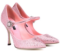 Verzierte Mary-Jane-Pumps