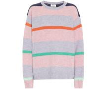 Gestreifter Pullover aus Wolle