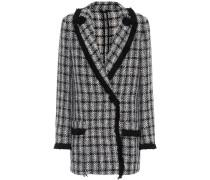 Kurzer Mantel mit Baumwoll- und Juteanteil