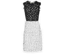 Minikleid aus Tweed und Spitze