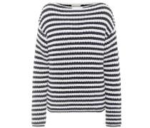 Gestreifter Pullover mit Baumwolle