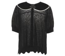 Verzierter Pullover mit Wellenkanten
