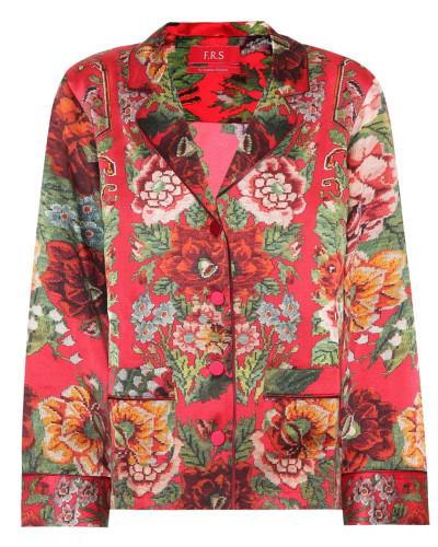 Bedruckte Bluse Ade aus Seide