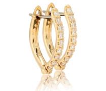 Creolen Cristina Small aus 18kt Gold mit Diamanten