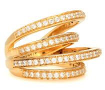 Vergoldeter Ring Encrusted Space