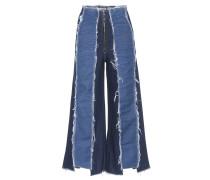 Cropped Jeans Bella mit weitem Bein