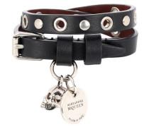 Alexander McQueen Verziertes Armband aus Leder