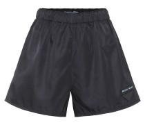Shorts mit Lederanteil