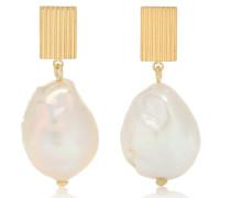 Ohrringe Barroco aus 9kt Gelbgold und Perlen